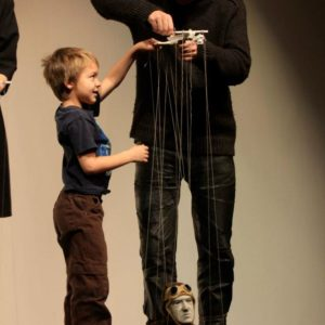 Doing puppetry with Spencer Lott