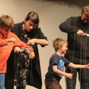 Performing puppetry with Phantom Limb Company