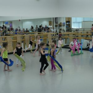 Children dancing in the dance studio
