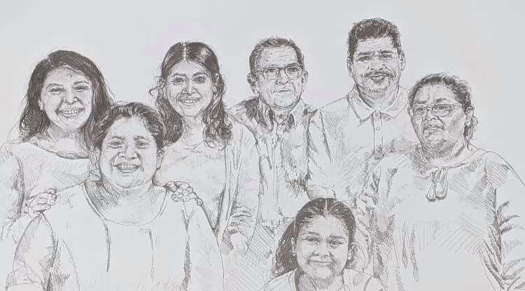 Sketch of a family.