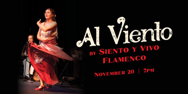 Graphic featuring a woman dancing flamenco